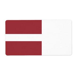 Latvia Flag Shipping Label