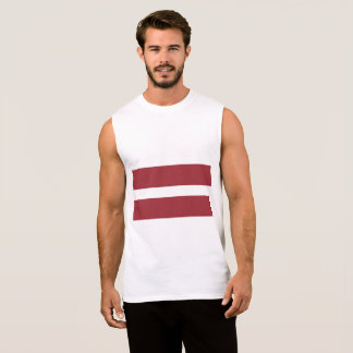 Latvia Flag Sleeveless Shirt
