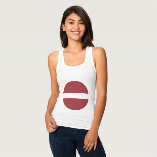 Latvia Flag Tank Top