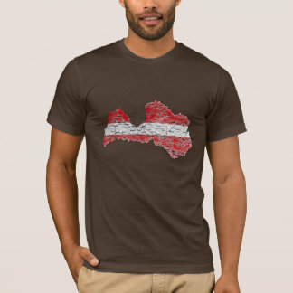 Latvia Flagcolor Map T-Shirt