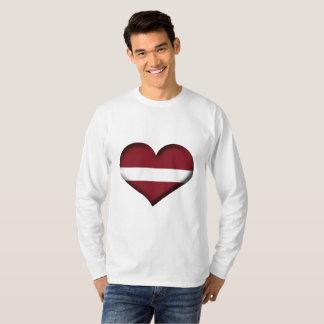Latvia Heart Flag T-Shirt