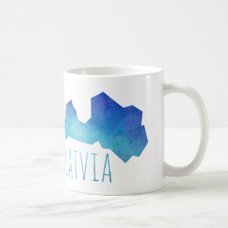 Latvia Map Coffee Mug