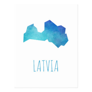 Latvia Map Postcard