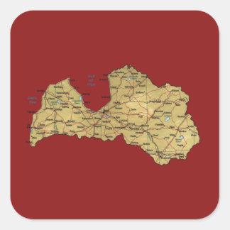 Latvia Map Sticker