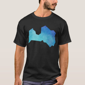 Latvia Map T-Shirt