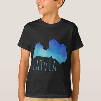 Latvia Map T-Shirt