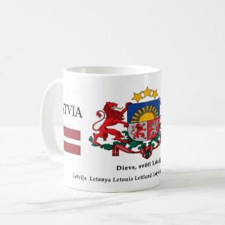Latvia National Symbols Coat of Arms Heraldry Coffee Mug