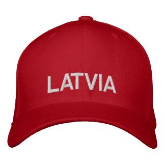Latvia Red & White Custom Baseball Cap