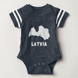 Latvia Silhouette Baby Bodysuit