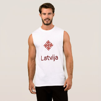 Latvia tank with Thunder Cross amulet