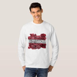 Latvia Vintage Flag T-Shirt