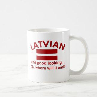 Latvian beau mug blanc