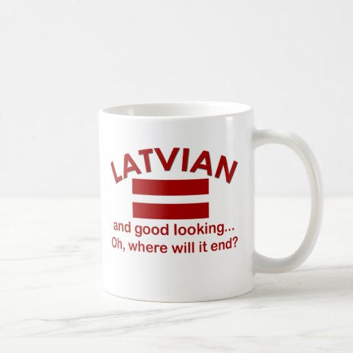 Latvian beau tasse à café