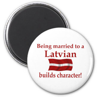 Latvian Builds Character Magnet