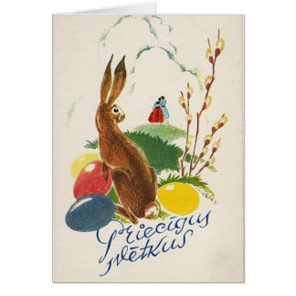 Latvian Easter card