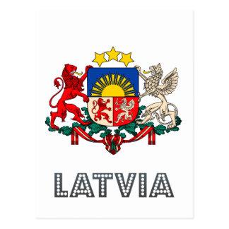 Latvian Emblem Postcard