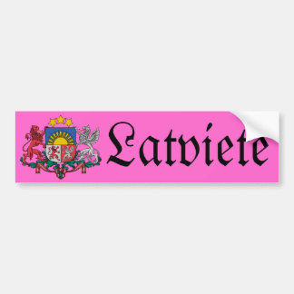 Latvian female bumper sticker