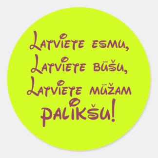 Latvian female sticker