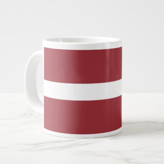 Latvian Flag Giant Coffee Mug