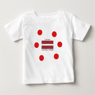 Latvian Language And Latvia Flag Design Baby T-Shirt