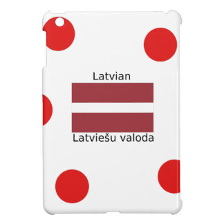 Latvian Language And Latvia Flag Design iPad Mini Cases