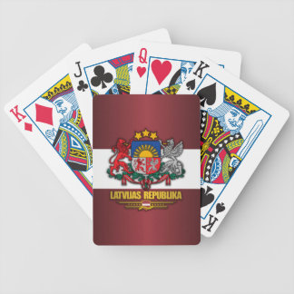 Latvian Pride Bicycle Playing Cards