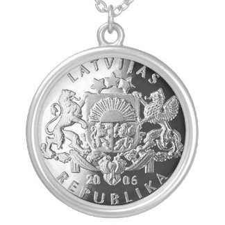 Latvian silver jewelry with Lats