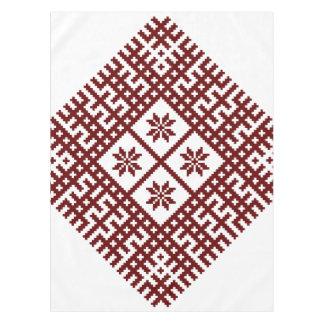 Latvian symbol motif design Auseklis Tablecloth