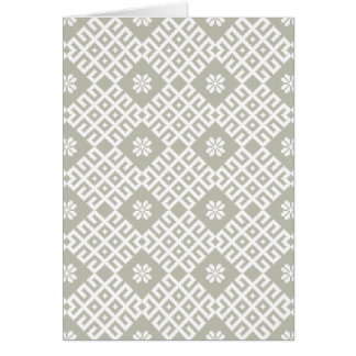 Latvian traditional pattern design card