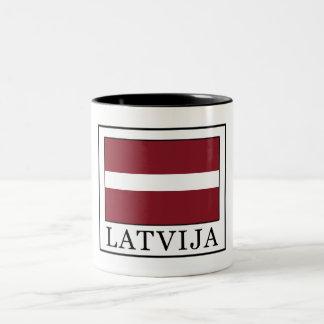 Latvija Two-Tone Coffee Mug