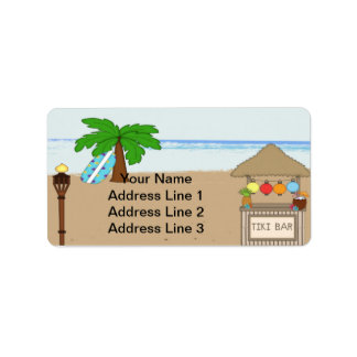 Laua / Tiki Party  Invitation Address Labels