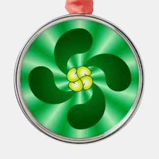 Lauburu Basque cross Basque CROSS Metal Ornament
