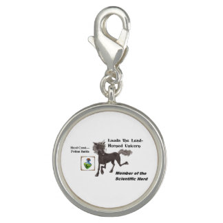 Lauda with Herd Info - Round Silver Plated Charm