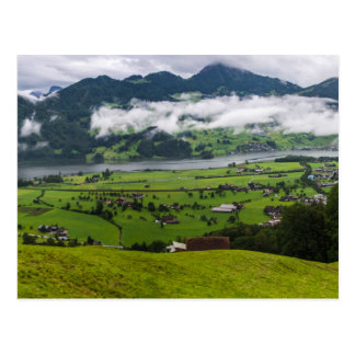 Lauerzersee Panorama - Switzerland Postcard