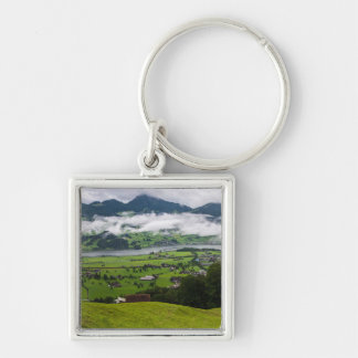 Lauerzersee Panorama - Switzerland Silver-Colored Square Keychain