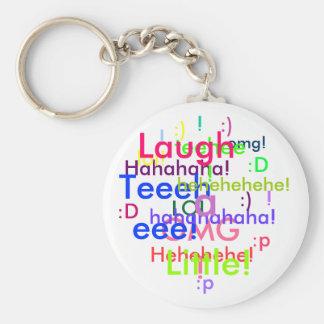 Laugh a Little Basic Round Button Keychain