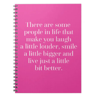 Laugh A Little Louder Quote Notebook