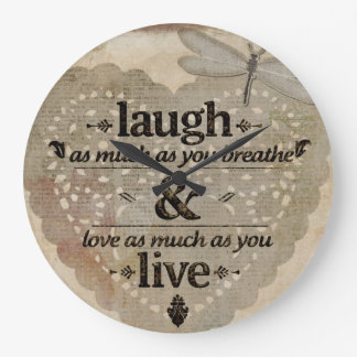 Laugh as much as you breathe wall clocks