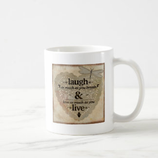 Laugh As Much AsYou Breathe Mindfulness Quote Gift Coffee Mug