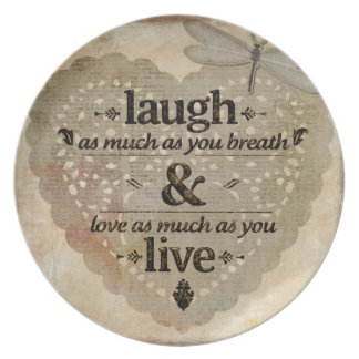 Laugh As Much AsYou Breathe Mindfulness Quote Gift Plate