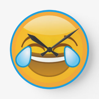Laugh Emoji Round Clock