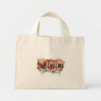 Laugh Live Love Mini Tote Bag