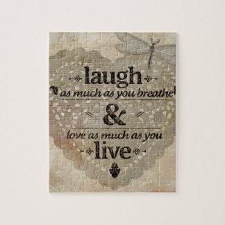 Laugh, Love, Live Puzzles