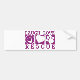 Laugh Love Rescue Bumper Sticker