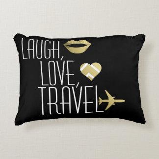 Laugh, Love, Travel Accent Pillow