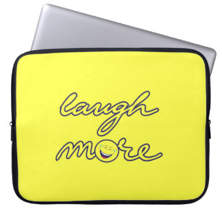Laugh More Laptop Sleeve