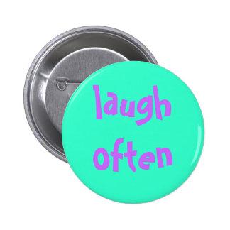 laugh often 2 inch round button