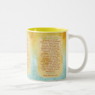 Laugh Often and Much -- Emerson quote Two-Tone Coffee Mug