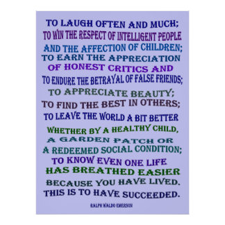 laugh often and much poster
