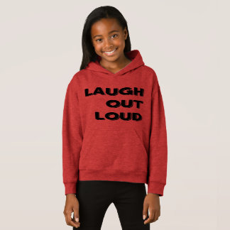 Laugh Out Loud Girls' Fleece Pullover Hoodie